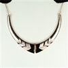 Gold and black statement necklace